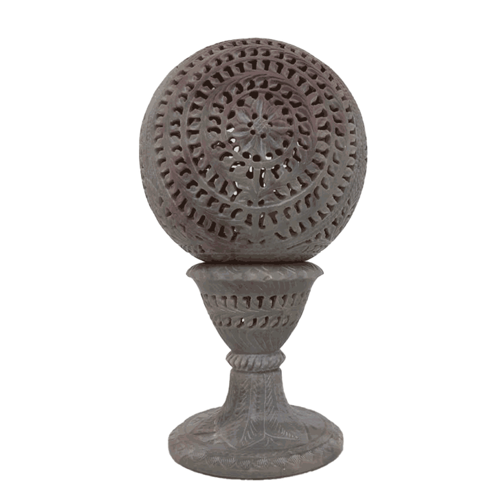 Marble Candle Holder Ball With Pedestal