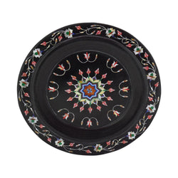 Black Marble Inlay Plate