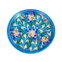 Snack Plate Light Blue