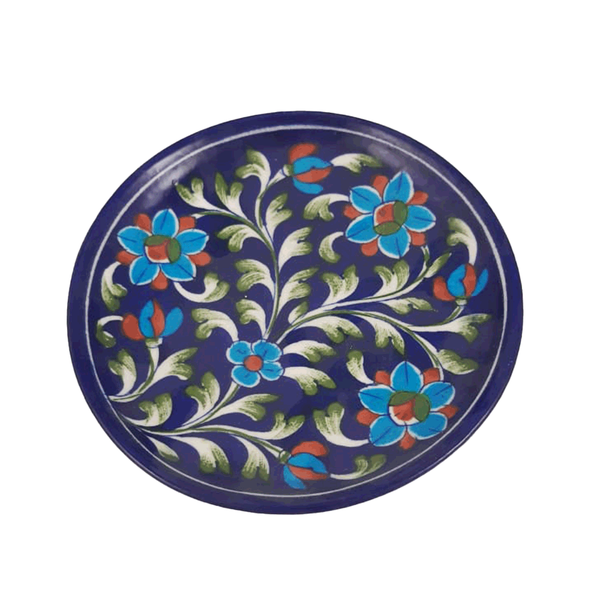 Snack Plate Floral Blue - Min Ayn Home Home Decoration Ideas