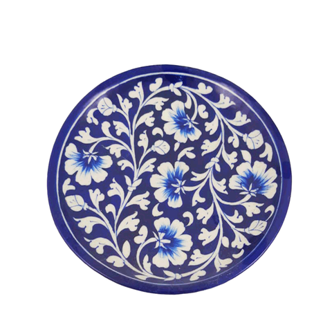Salad Plate Dark Blue - Min Ayn Home Home Decoration