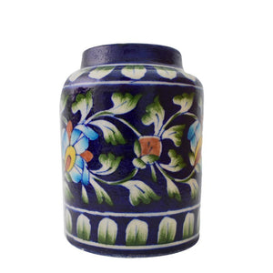 Blue Pottery Floral Planter - Min Ayn Home Home Decoration Ideas