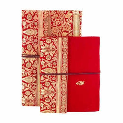 Handmade Diary Red Notebook With Pattern Design