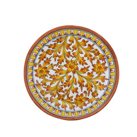 Round Blue Pottery Plate - Min Ayn Home Home Decoration Ideas