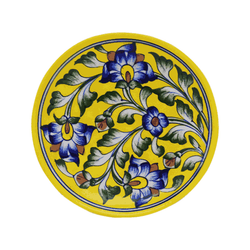 Ceramic Snack Plate - Blue Pottery