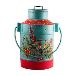 Decorative Iron Milk Can Blue