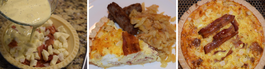 Cheddar Curd and Bacon Quiche