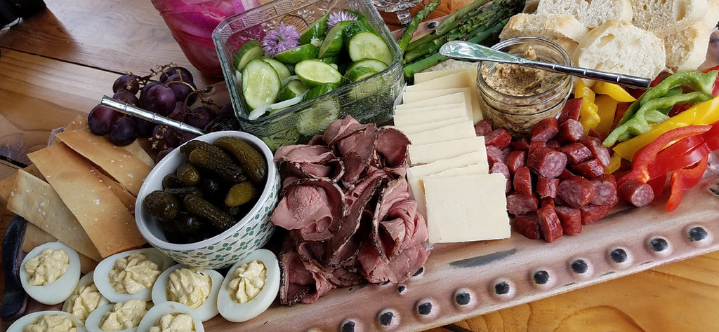 Horseradish Cheddar Stars in Pickled Snack Platter