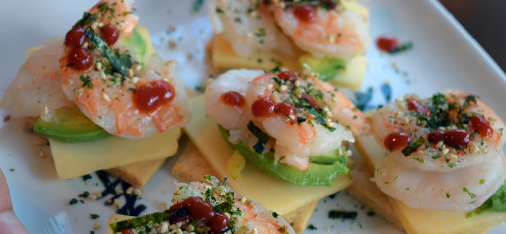 Too hot to cook? Try Smokey Cheddar Shrimp Stacks