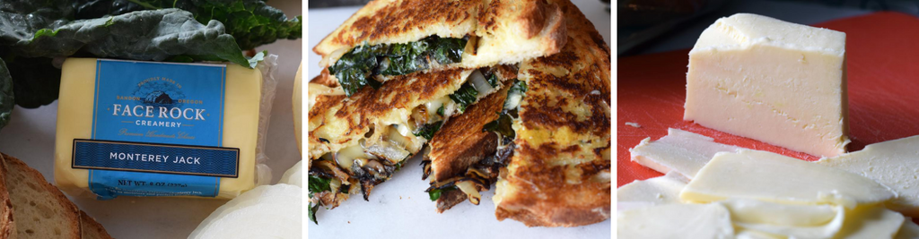 Greened Up Monterey Jack Grilled Cheese