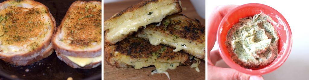 Double Garlic Grilled Cheese