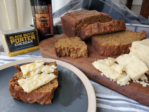 irish brown bread with black butte porter cheddar