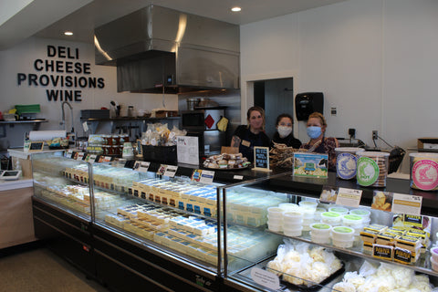 The interior of Face Rock Coos Bay Village showing a fully loaded cheese case