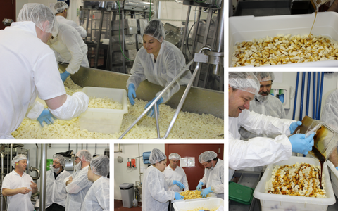 images showing the making of black butte porter cheddar