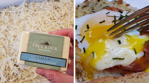 face 2 face cheddar and a cooked egg