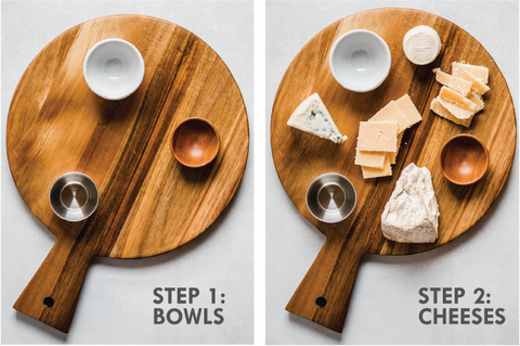 Image showing how to build a cheeseboard