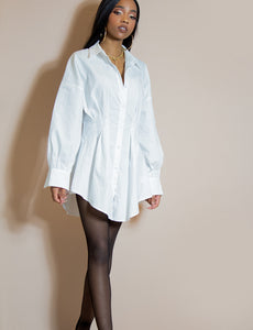 IT GIRL WHITE BLOUSE DRESS