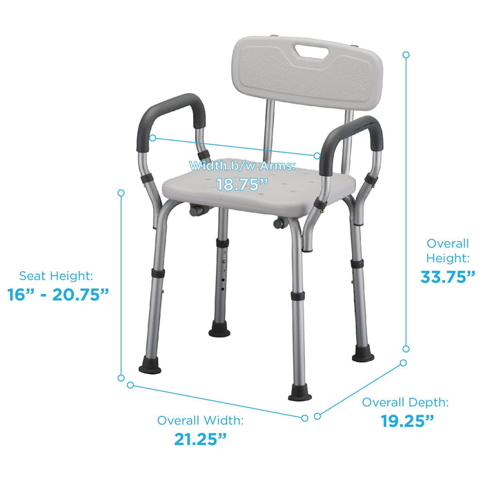 Bath Seat with Arms & Back 9026