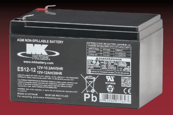 Small Sealed 12 Volt Battery ES12-12