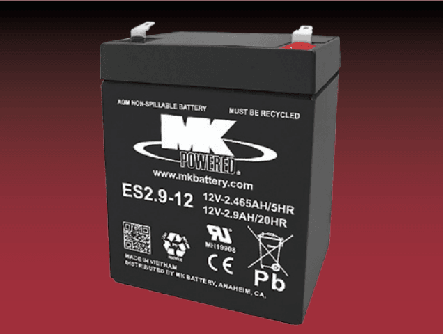 Small Sealed 12 Volt Battery ES2.9-12