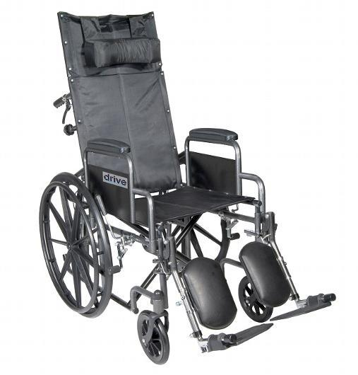 Silver Sport Reclining wheelchair - drive medical - harmony home medical