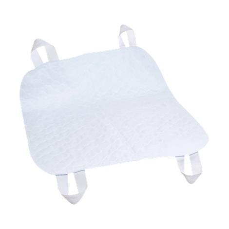 "Quik Sorb 34"" x 35"" Brushed Polyester Underpad with Positioning Straps - quik sorb - harmony home medical"