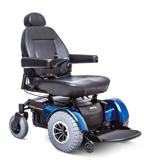 Jazzy 1450 heavy duty bariatric power wheelchair - pride - harmony home medical