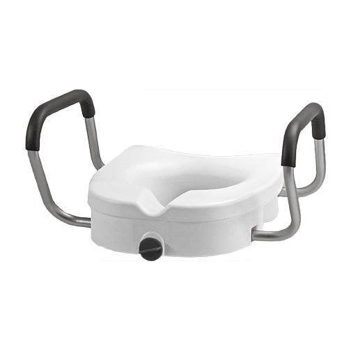 Raised Toilet Seat with Detachable Arms