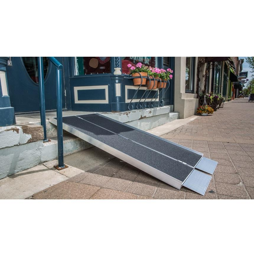 suitcase advantage series wheelchair ramp - ez-access - harmony home medical