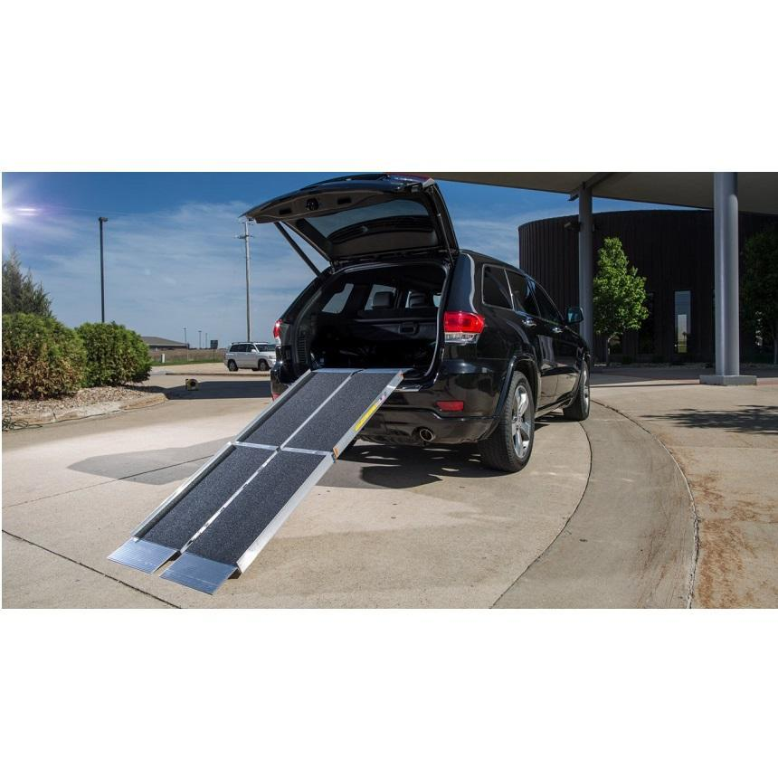 suitcase singlefold trifold ramp - ez-access - harmony home medical