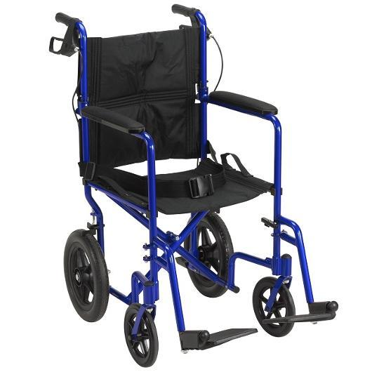 "Lightweight Expedition with 12"" Rear Wheels transport folding wheelchair - drive medical - harmony home medical"
