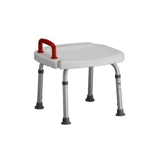 Bath Bench with Red Safety Handle