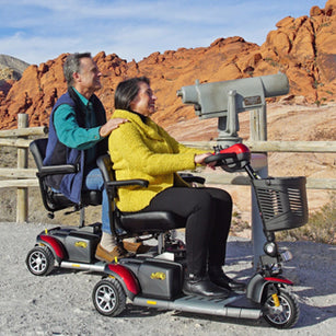 Riding Electric Mobility Scooter
