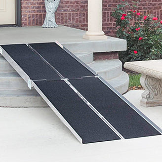 Wheelchair ramp on stairs