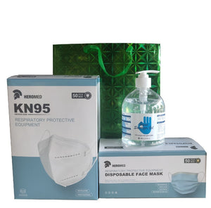 Special Thanksgiving Bundle</br> (1 Box Of KN95 Masks W/ Nose Strip, 1 Box of Disposable Masks, 1 480ml Hand Sanitizer)
