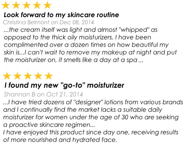 testimonial of regenerative and restorative lotion