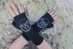 Fingerless Merino Gloves - Long