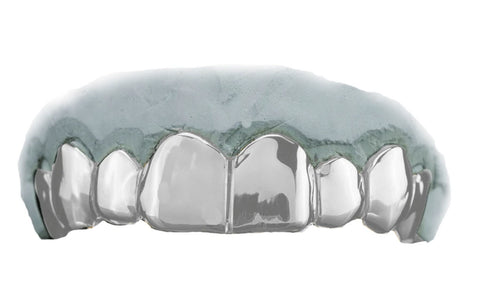 Top 8 White Gold Grillz