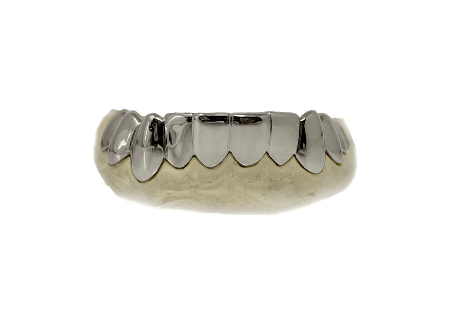 Bottom 10 White Gold Grillz 10K