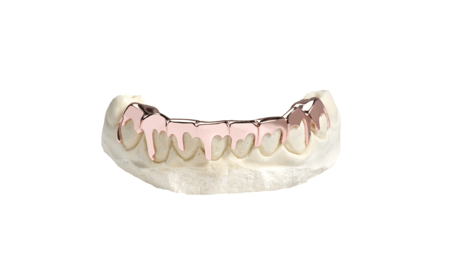 Bottom 8 Drip Grillz Rose Gold 10K