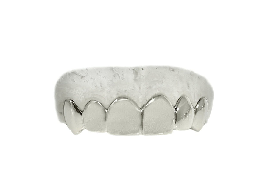 Top 6 Grillz (14K, White Gold)
