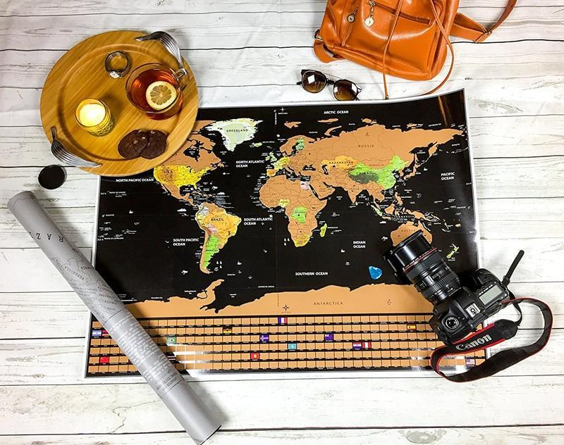 Limited Edition: World Traveler Deluxe Scratch Map