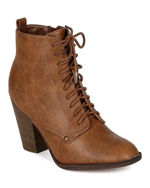 The Luxe Mode Heather Brown Ankle Boots