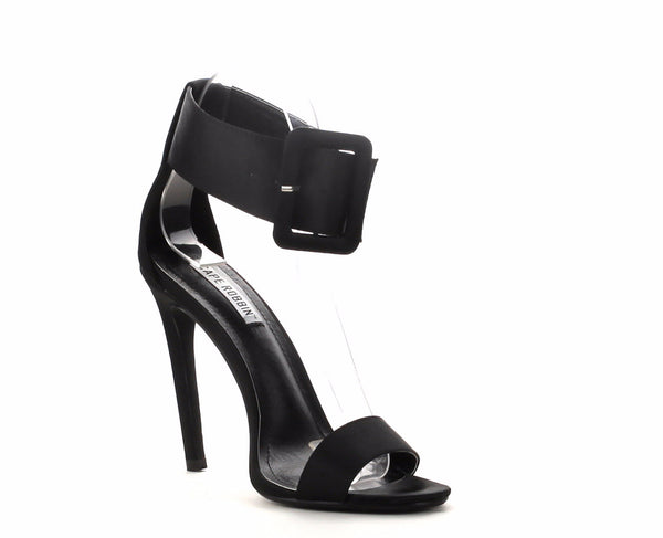 Cape Robbin Suzzy Women Satin Stiletto Sandal with Oversize Ankle Cuff