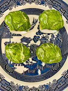 Set of 4 Vintage Cabbage Leaf Napkin Holders