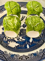 Load image into Gallery viewer, Set of 4 Vintage Cabbage Leaf Napkin Holders