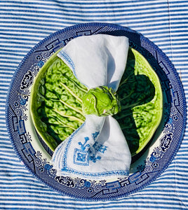 Set of Five Vintage Cabbage Leaf Plates