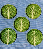 Load image into Gallery viewer, Set of Five Vintage Cabbage Leaf Plates