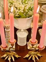 Load image into Gallery viewer, Brass & Copper Swan Candle Holders