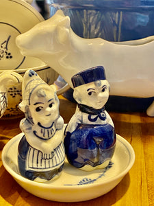 Delft Dutch Girl & Boy Salt & Pepper Shakers